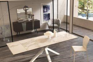 Per una sala da pranzo elegante e raffinata: i tavoli in ceramica da interno