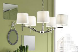 Due lampadari nella stessa stanza: come abbinare i due complementi