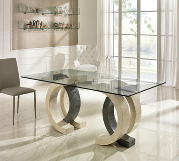Tavoli in vetro di design