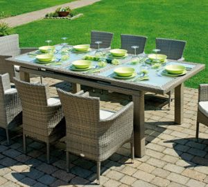 Tavolo rettangolare allungabile da esterno