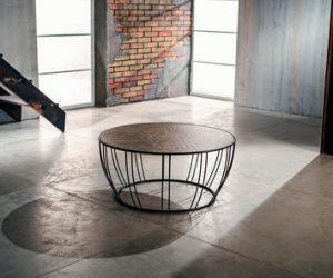 tavolino metallo da salotto